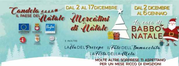 Casa Di Babbo Natale Candela.Mercatino Di Natale E Casa Di Babbo Natale A Candela Puglia